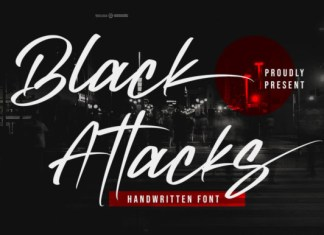 Black Attacks Font