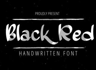 Black Red Font