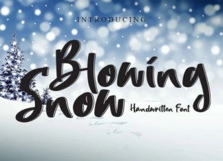 Blowing Snow Font