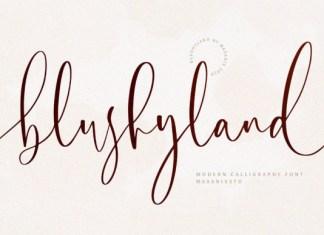 Blushyland Font