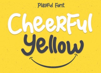 Cheerful Yellow Font