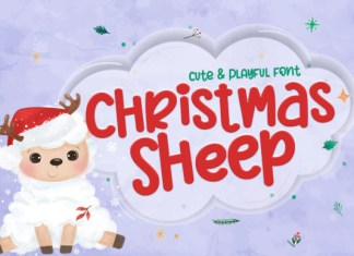 Christmas Sheep Font
