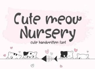 Cute Meow Nursery Font
