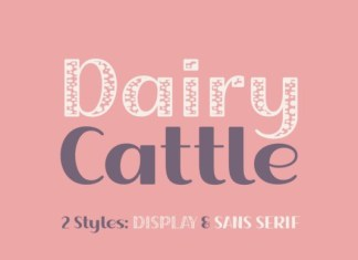 Dairy Cattle Font