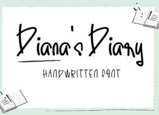 Diana's Diary Font