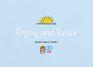 Enjoy and Relax Font