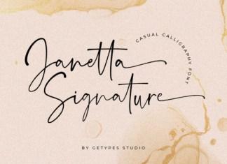 Janetta Signature Font