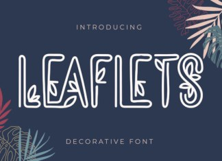 Leaflets Font