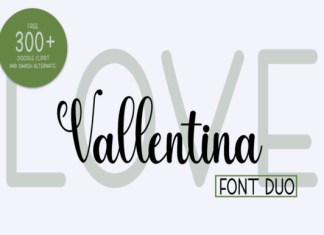 Love Vallentina Duo Font