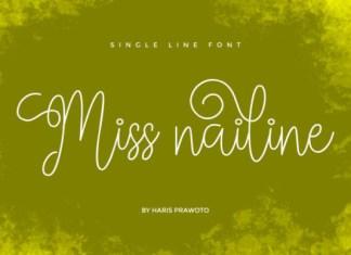 Miss Nailine Font