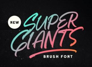 Super Giants Font