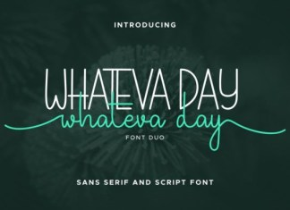 Whateva Day Font