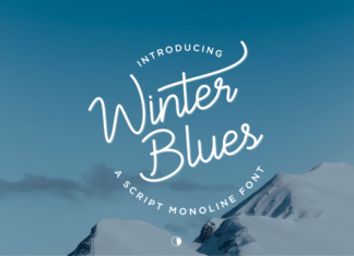 Winter Blues Font