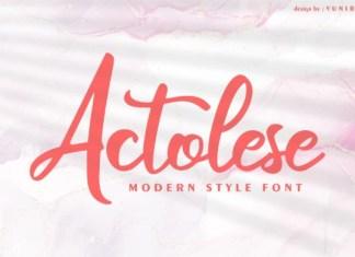 Actolese Font