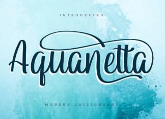 Aquanetta Font