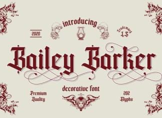 Bailey Barker Font