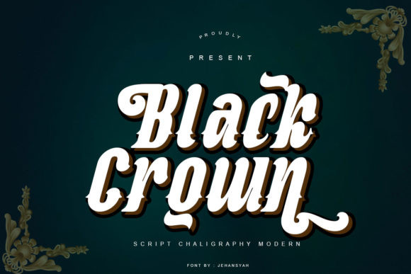 Black Crown Font