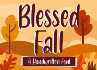 Blessed Fall Font