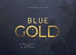 Blue Gold Font