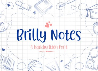 Brilly Notes Font