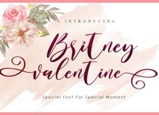 Britney Valentine Font