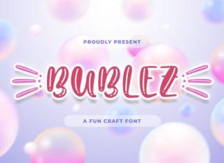 Bubblez Font