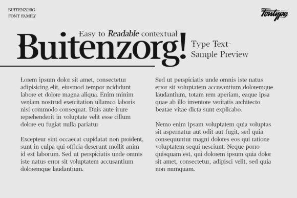 Buitenzorg Font