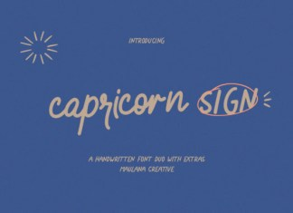 Capricorn Sign Font