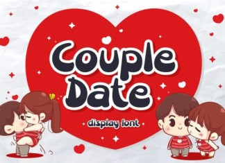 Couple Date Font