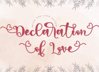 Declaration of Love Font