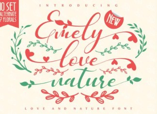 Emely Love Nature Font