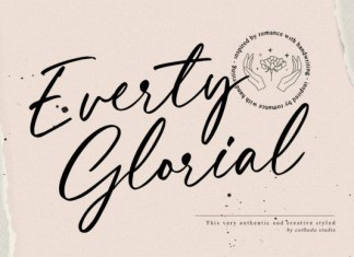 Everty Glorial Font