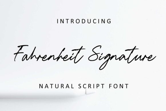 Fahrenheit Signature Font