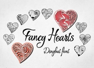 Fancy Hearts Font