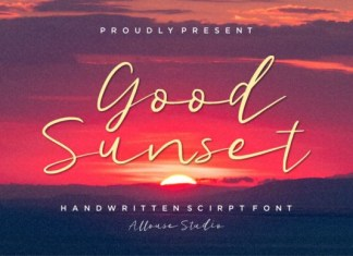 Good Sunset Font