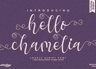 Hello Chamelia Font