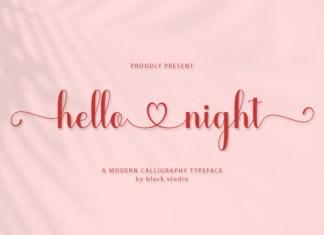 Hello Night Font