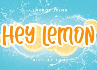 Hey Lemon Font