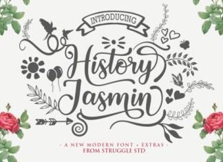 History Jasmin Font
