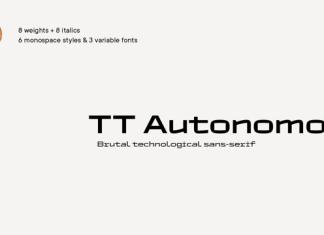 TT Autonomous  Font