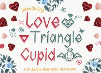 Love Triangle Cupid Font