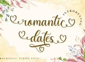Romantic Dates Font