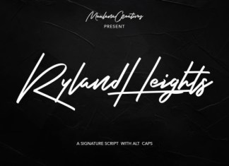 Ryland Heights Font