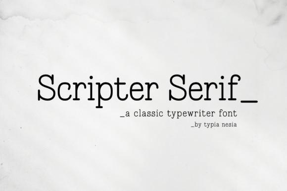 Scripter Font