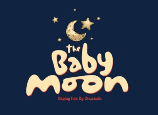 The Baby Moon Font