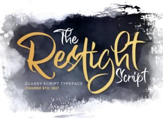 The Restight Script Font