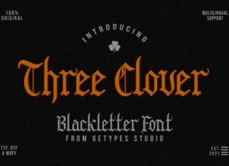 Three Clover Font