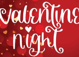 Valentine Night Font