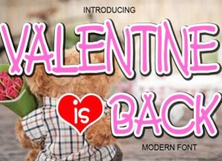 Valentine is Back Font