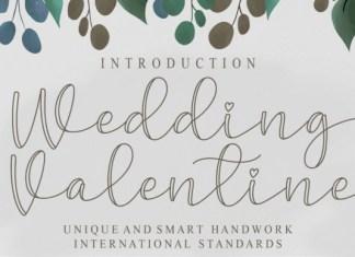 Wedding Valentine Font